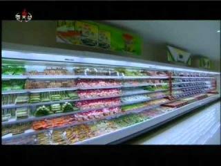 Ким Чен Ын на открытии нового рыбно-мясного магазина.