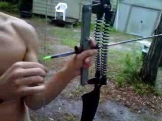 Crazy homemade bow!