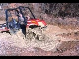 Arctic Cat Prowler XTZ going through the first mud hole at Highlifter Park in Shreveport.