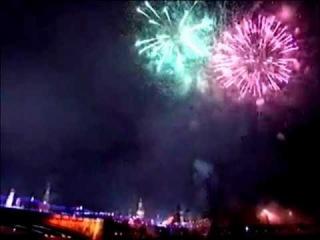 Салют на Красной Площади в Москве ( Новый год 2012 )