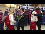 Аэропорты в Москве и регионах принимают `золотые` рейсы из олимпийского Сочи - Первый канал