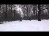 Дрифт на квадроцикле зимой по снегу