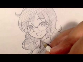 How I Draw Anime/Manga Girl/Glasses/Messy Curly Hair/Original Character