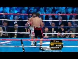 Manny Pacquiao doing the Ali Shuffle