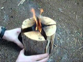 Шведская свеча или как быстро приготовить пищу в походных условиях