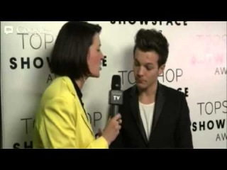 Louis backstage at Topshop fashion show 2/17