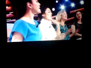 Ashley Benson,Selena Gomez,Rachel Korine and Vanessa Hudgens singing Britney Spears's song at 'Le grand journal'