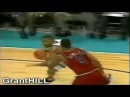 Grant Hill dunks on Juwan Howard, Harvey Grant & Gheorghe Muresan!