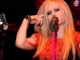 Avril Lavigne - Girlfriend (Live @ Yahoo Live Talk 2007)
