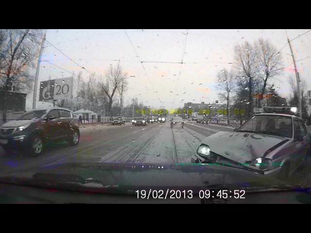 Авария с участием автомобиля ДПС.Смоленск