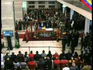 Начало прощания с команданте Чавесом