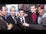 The warblers want the Mini Warbler as their mascot at Glee 3D Premiere