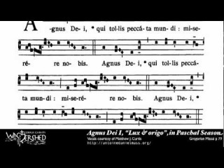 Agnus Dei I from Mass I, Gregorian Chant
