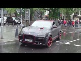 Черно-красный Porsche Cayenne GTS TechArt Magnum в Дюссельдорфе
