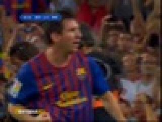 Решающий гол Месси.Суперкубок Испании - Барселона : Реал Мадрид, 3:2 (18.08.2011)