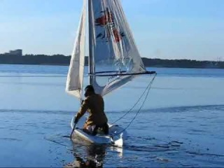 Ice yachting (Crazy Russian)