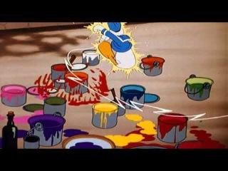 Donald Duck Wet Paint