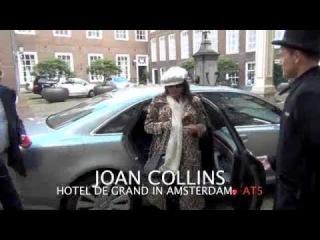 JOAN COLLINS BIJ HOTEL DE GRAND IN AMSTERDAM
