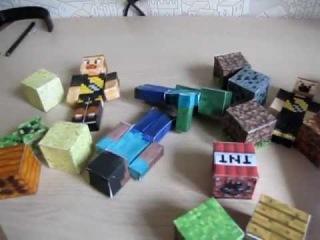 Minecraft от Игната: поделки из бумаги