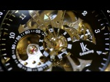lk Colouring Stainless Steel Skeleton Watch