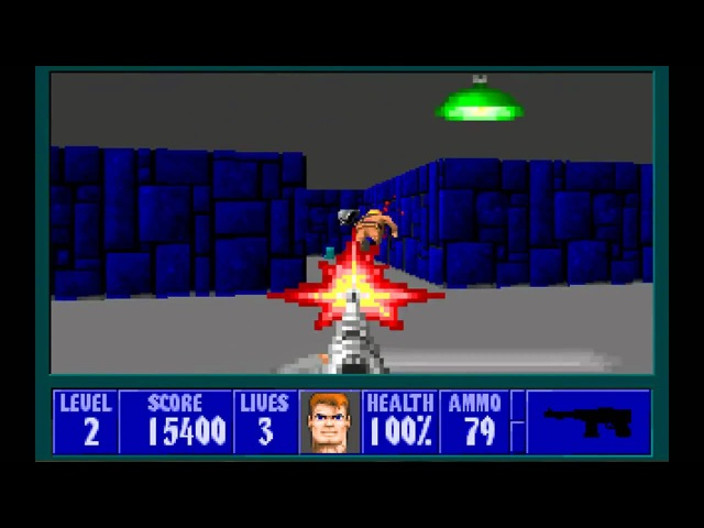 Wolfenstein 3D wolf3d DOS 1992 gameplay HD