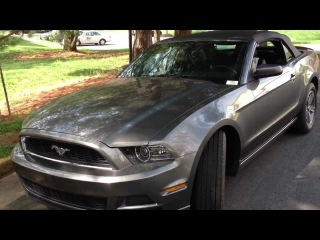 2013 Ford Mustang Convertible Review, Walk Around, Start Up & Rev, Test Drive