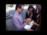 Simple Plan firmando autógrafos en el hotel Hilton de Buenos Aires, Argentina 21/10/12