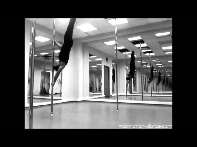 Авторский pole dance: Анжела Кулагина - силовые трюки на пилоне