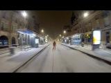 Ski tracté en centre ville de Reims !