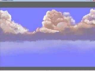как я рисую облака