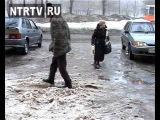 Внезапно пришедшая в Нижнекамск весна доставила немало хлопот горожанам