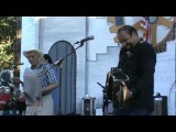 Terrance Simien with Willie Lewis on rubboard at Sebastopol Festival 9-11-2010