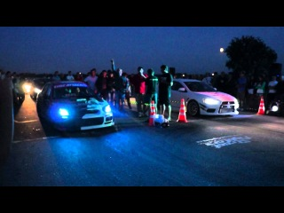 Subaru WRX STI vs Mitsubishi Lancer Evo X - Drag Racing by StreetFighter (28.07.2012)