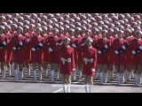 Китайский женский военный марш под музыку из Red Alert 2