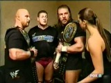 stephanie mcmahon triple h stone cold and william regal backstage SmackDown.04.26.2001.