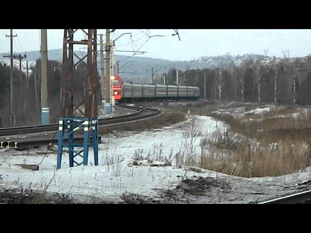 ЭП2К-070 с поездом №140 Новосибирск - Адлер, ст.Ревда l ОАО РЖД vkontakte.ru/oaorzdrus