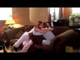 Sara Canning,Mia Kirshner and Jenny Cooper on set of 'I Think I Do'