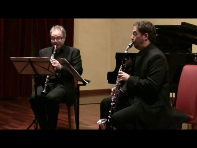 Mozart - Duet for clarinet and bassethorn, n. 1 K.423 - First Movement | Travaglini | Dressler