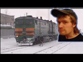 Тепловозы, зима, Россия