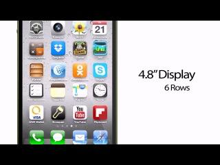Как бы мог выглядеть iPhone с 4,8-дюймовым экраном [концепт]