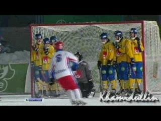 ЧМ 2011 по Хоккею с Мячом в Казани. Россия - Швеция (5:2)