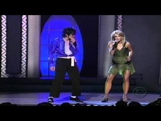 Майкл Джексон и Бритни Спирс — отреставрированная запись совместного выступления (Испанское телевидение). Michael Jackson and Br