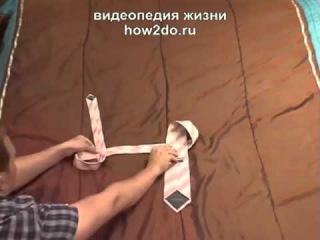 Как быстро и правильно завязывать галстук за10-20 секунд