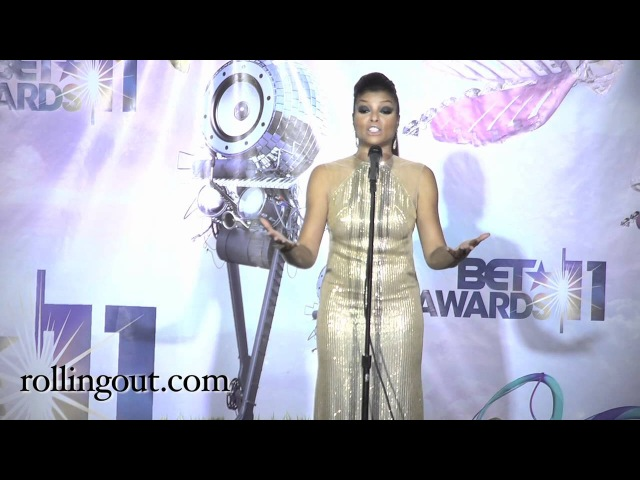 Taraji Henson Talks about finding her Husband at BET Awards 2011 Press Room