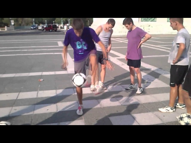 Freestyle Football Meeting with Tom Folan, Ethan, Budz - Budapest, Heroes Square