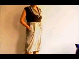 Платье-баллон из трёх футболок
