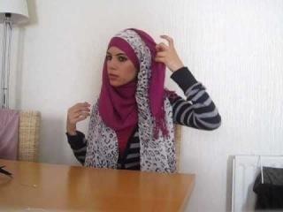 Хиджаб с цветком