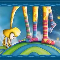 Лизанье ножки носки