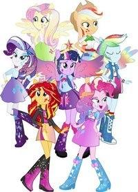 Мой маленький пони и девушки
