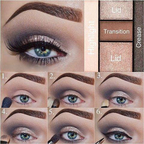 как правильно наносить макияж на карие глаза